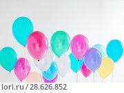Купить «balloons on white background», фото № 28626852, снято 16 марта 2018 г. (c) Майя Крученкова / Фотобанк Лори