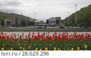 Купить «Центр города Петропавловска-Камчатского. Time lapse», видеоролик № 28629296, снято 24 июня 2018 г. (c) А. А. Пирагис / Фотобанк Лори
