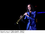 Купить «Kenny G performing on 'The Holiday' Tour 2016 at Parker Playhouse Featuring: Kenny G Where: Fort Lauderdale, Florida, United States When: 01 Dec 2016 Credit: JLN Photography/WENN.com», фото № 28641392, снято 1 декабря 2016 г. (c) age Fotostock / Фотобанк Лори