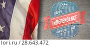 Купить «Composite image of us flag», фото № 28643472, снято 8 июля 2020 г. (c) Wavebreak Media / Фотобанк Лори
