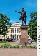 Купить «Памятник А.С. Пушкину на площади Искусств. Санкт-Петербург», эксклюзивное фото № 28645064, снято 27 мая 2018 г. (c) Александр Щепин / Фотобанк Лори