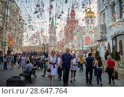 Купить «Москва во время Чемпионата мира по футболу 2018», фото № 28647764, снято 27 июня 2018 г. (c) Julia Shepeleva / Фотобанк Лори