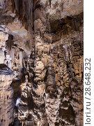 Купить «Panoramic view of chamber in Grotte des Demoiselles», фото № 28648232, снято 22 октября 2018 г. (c) Яков Филимонов / Фотобанк Лори