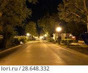 Купить «Набережная Евпатории в вечерние часы Ночной пейзаж города Евпатория», фото № 28648332, снято 27 июня 2018 г. (c) Кузнецов Максим / Фотобанк Лори