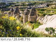 Купить «Love valley in Cappadocia, Turkey», фото № 28648716, снято 19 мая 2015 г. (c) Наталья Волкова / Фотобанк Лори