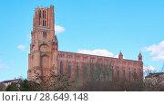 Купить «Cathedral Basilica of Saint Cecilia, Albi, France», видеоролик № 28649148, снято 29 марта 2018 г. (c) BestPhotoStudio / Фотобанк Лори
