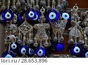 Купить «Назар бонджук, амулет от сглаза. Самый популярный турецкий сувенир», фото № 28653896, снято 14 мая 2018 г. (c) Светлана Колобова / Фотобанк Лори