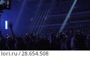 Купить «Excited dancing audience with mobiles to shoot the concert», видеоролик № 28654508, снято 6 февраля 2018 г. (c) Данил Руденко / Фотобанк Лори