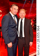 Купить «'Ein Herz fuer Kinder' charity gala at Studio Adlershof. Featuring: Vitali Klitschko, Boris Becker Where: Berlin, Germany When: 03 Dec 2016 Credit: AEDT/WENN.com», фото № 28655964, снято 3 декабря 2016 г. (c) age Fotostock / Фотобанк Лори