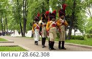 Купить «Historical reconstruction in Moscow, Russia», видеоролик № 28662308, снято 4 июня 2017 г. (c) BestPhotoStudio / Фотобанк Лори