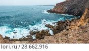 Summer Atlantic rocky coast (Algarve, Portugal). (2016 год). Стоковое фото, фотограф Юрий Брыкайло / Фотобанк Лори
