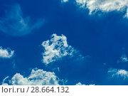 Купить «Sky with clouds», фото № 28664132, снято 20 июля 2018 г. (c) Ольга Сапегина / Фотобанк Лори