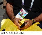 Паспорт болельщика ЧМ-2018. Город Москва. Редакционное фото, фотограф lana1501 / Фотобанк Лори