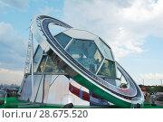 Купить «Commentator cabin on the Sparrow hills in Moscow. Russia.», фото № 28675520, снято 23 июня 2018 г. (c) Акоп Васильян / Фотобанк Лори