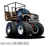 Купить «Cartoon Monster Truck», иллюстрация № 28688692 (c) Александр Володин / Фотобанк Лори