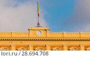 Купить «Parma railway station is serving city of Parma, Italy», видеоролик № 28694708, снято 4 декабря 2016 г. (c) BestPhotoStudio / Фотобанк Лори