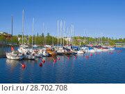 Лето в гавани Сайменского озера. Лаппеенранта, Финляндия (2017 год). Редакционное фото, фотограф Виктор Карасев / Фотобанк Лори