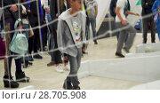 Купить «Entertainment for children and adults in fan zone on Konushennaya square», видеоролик № 28705908, снято 6 июля 2018 г. (c) Ирина Мойсеева / Фотобанк Лори