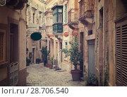 Купить «Old narrow town street», фото № 28706540, снято 15 декабря 2010 г. (c) Яков Филимонов / Фотобанк Лори