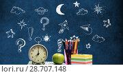 Купить «Magical Space universe Education drawing on blackboard for school», фото № 28707148, снято 26 мая 2020 г. (c) Wavebreak Media / Фотобанк Лори