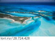 Купить «Aerial view of eastern Bahamas Reefs, Atlantic Ocean», фото № 28724428, снято 18 августа 2018 г. (c) Nature Picture Library / Фотобанк Лори