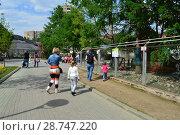 Купить «Посетители с детьми в зоопарке. Пресненский район. Город Москва. Россия», эксклюзивное фото № 28747220, снято 13 мая 2015 г. (c) lana1501 / Фотобанк Лори