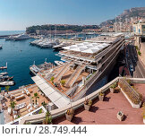 Купить «Port Hercule, Quai Louis II, view from Pointe Focinane, Monaco, Monte Carlo, France», фото № 28749444, снято 16 февраля 2019 г. (c) age Fotostock / Фотобанк Лори