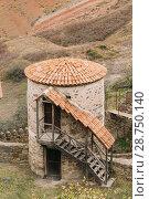 Купить «Sagarejo Municipality, Kakheti Region, Georgia. Old Tower In Ancient Rock-hewn Georgian Orthodox David Gareja Monastery Complex. Monastery Is Located Is Southeast Of Tbilisi.», фото № 28750140, снято 23 октября 2016 г. (c) easy Fotostock / Фотобанк Лори