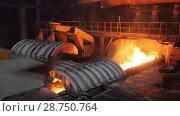 Blast furnace iron output. Стоковое видео, видеограф Дмитрий Рухмалев / Фотобанк Лори