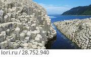 Купить «Rocks in Stolbchatiy cape, Kunashir», фото № 28752940, снято 31 июля 2010 г. (c) Сергей Майоров / Фотобанк Лори