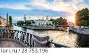 Купить «Никольский собор на Крюковом канале St. Nicholas Cathedral on the Kryukov Canal», фото № 28753196, снято 4 июня 2018 г. (c) Baturina Yuliya / Фотобанк Лори