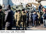 Купить «Представители Вооруженных Сил России. Владивосток», фото № 28753348, снято 23 февраля 2018 г. (c) Дмитрий Лебединский / Фотобанк Лори