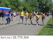 Спортсмены на старте (2015 год). Редакционное фото, фотограф Дарья Плеханова / Фотобанк Лори