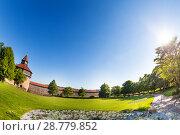 Купить «Esslingen Burg fortress with tower, Germany», фото № 28779852, снято 26 мая 2017 г. (c) Сергей Новиков / Фотобанк Лори