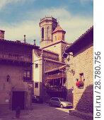 Купить «view of old Catalan village. Rupit», фото № 28780756, снято 2 июля 2013 г. (c) Яков Филимонов / Фотобанк Лори