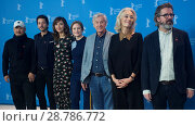 Купить «Members of the Jury attend a photocall and press conference to open the 67th Berlinale Film Festival in Berlin. Featuring: Wang Quan'an, Diego Luna, Maggie...», фото № 28786772, снято 9 февраля 2017 г. (c) age Fotostock / Фотобанк Лори