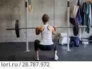 Купить «Barbells, Fitness center, Gym, Donostia, San Sebastian, Gipuzkoa, Basque Country, Spain, Europe», фото № 28787972, снято 21 мая 2018 г. (c) age Fotostock / Фотобанк Лори