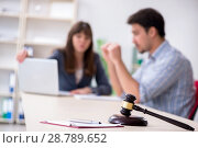Купить «Female lawyer meeting with his male client in the office», фото № 28789652, снято 25 апреля 2018 г. (c) Elnur / Фотобанк Лори