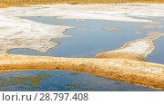 Купить «Salt on the salt lake in the city of Sol-Iletsk in the Orenburg region of Russia.», фото № 28797408, снято 15 августа 2017 г. (c) Акиньшин Владимир / Фотобанк Лори