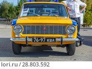 Купить «Old classic Lada car equipped for police.», фото № 28803592, снято 16 сентября 2017 г. (c) Акиньшин Владимир / Фотобанк Лори