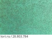 Купить «Texture of the plastered wall, green color.», фото № 28803784, снято 13 октября 2017 г. (c) Акиньшин Владимир / Фотобанк Лори
