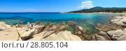 Aegean sea coast (Chalkidiki, Greece). (2016 год). Редакционное фото, фотограф Юрий Брыкайло / Фотобанк Лори