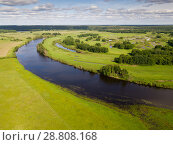 Купить «Flood meadows near Oka River», фото № 28808168, снято 14 июня 2018 г. (c) Яков Филимонов / Фотобанк Лори