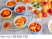 Купить «Ingredients for french dessert apricot clafoutis», фото № 28820132, снято 22 июля 2018 г. (c) Oksana Zh / Фотобанк Лори