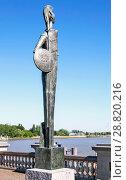 Купить «Монумент богине Минерве – статуя римской богини мудрости, возвышающаяся на южной террасе набережной реки Шельда. Антверпен. Бельгия», фото № 28820216, снято 5 мая 2018 г. (c) Сергей Афанасьев / Фотобанк Лори