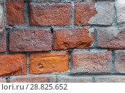 Купить «Старая кирпичная стена. Текстура», фото № 28825652, снято 24 июля 2018 г. (c) Алёшина Оксана / Фотобанк Лори