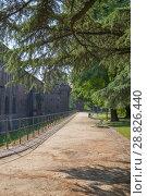 Купить «MILAN, ITALY - July 7, 2018: Milan, Lombardy, Italy: the castle known as Castello Sforzesco», фото № 28826440, снято 7 июля 2018 г. (c) Григорий Стоякин / Фотобанк Лори