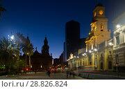 Купить «Plaza de Armas in evening», фото № 28826824, снято 11 февраля 2017 г. (c) Яков Филимонов / Фотобанк Лори