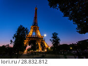 Купить «Tour Eiffel at night», фото № 28832812, снято 19 июля 2013 г. (c) Сурикова Ирина / Фотобанк Лори