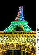 Купить «Tour Eiffel at night», фото № 28832824, снято 19 июля 2013 г. (c) Сурикова Ирина / Фотобанк Лори